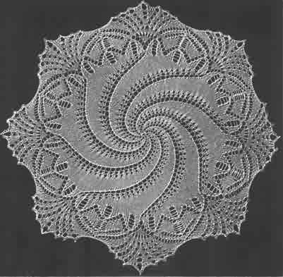 Doily with spiral