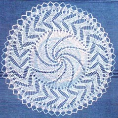 Knitted lace doily