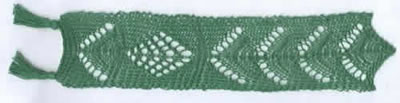 Bookmark with tree pattern