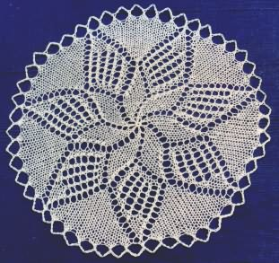 Doily with star